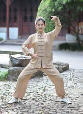New black beige Chinese women's cotton kung fu suit pajamas xxS-3XL