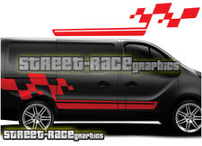 Renault Trafic Cup flag stripes 009 decals vinyl graphics (SWB or LWB)