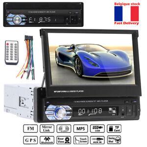 "Single 1 Din 7 ""Touchscreen Car MP5 Player GPS Autoradio BT AUX AM / FM Stereo"