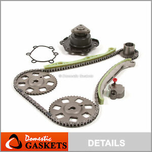 99-02 Saturn SC2 SL2 SW2 1.9L DOHC Timing Chain Water Pump Kit VIN 7