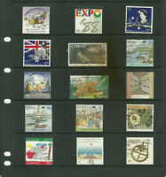 Australia  6 pages large  collection stamps