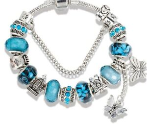 PANDORA Blue 19 cm/7.5 in Bracelet Fashion Charms & Charm ...