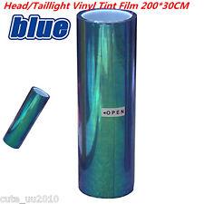 Car Headlight Taillight Fog Light Vinyl Tint Film Headlight film 200x30cm Blue