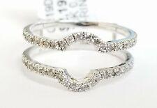 10k White Gold Round Diamond U Shape Enhancer Wrap Ring Guard Anniversary Ladies