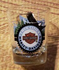 Twin Cities Harley Davidson Motorcycles Shot Glass ~ Minneapolis St. Paul MN