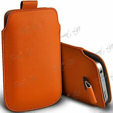 Pull Tab PU Leather Pouch Cover Case Sleeve For Apple iPhone Samsung Nokia, Acer