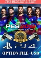 PES 2018 PS4 OPTION FILE - THE BIGGEST & BEST - USB, COMPLETE - FAST DELIVERY UK