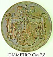 Sede Vacante Marius Princeps Chisius S.R.E. Mareschallus 1878 medaglia bronzo