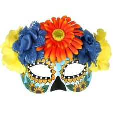 Frida Day of Dead Eye Masquerade Mask Sunflowers Gerberas Costume Mask