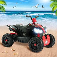 12V Kids ATV 4 Wheeler Ride On Quad 2 Speeds LED Lights Electric Ride on Car