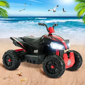 12V Kids ATV 4 Ride On Quad Car 2 Speeds LED Lights Electric Remote Control