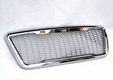 For 04-08 Ford F150 Raptor Style Chrome Front Hood Grille Conversion With LED