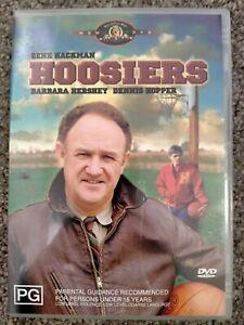 Hoosiers - DVD (Region 4) - Gene Hackman - VGC - Free Postage