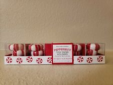 Williams Sonoma Peppermint Tiny Taper Holders New In Box 2011