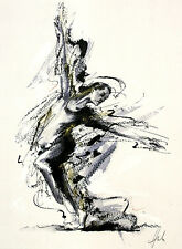 Roger Hale Swirl Girl Poster Kunstdruck Bild 40x30cm - Kostenloser Versand