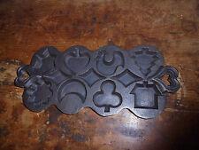 Large cast iron kitchen mold chicken moon star tree house cottage design NEAT