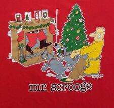 Vintage Retro Jim Benton The Mister Series Mr. Scrooge T Shirt Christmas Humor