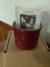 Longaberger Pottery Woven Traditions Paprika One Pint Salt Crock New In Box