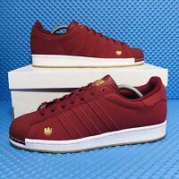 Adidas Originals Superstar Men's Athletic Casual Sneaker Burgundy Athletic Shoe