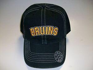 Boston Bruins Cap Black Gold Adjustable One Size Fits Most Twins Enterprise