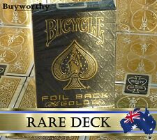 Gold Metal Luxe Playing Cards Rare Collectors Deck Bicycle ~ Foil on All Cards