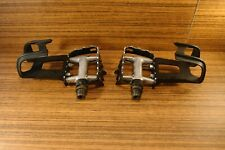 """1991 pedals Shimano Deore XT PD-M735 MTB  Japan 9/16"""" + toe clips Gary Fisher"""