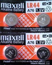 Pila MAXELL LR44 A76 AG13 - Alcalina - Calculadoras - Relojes - Pack De 4 Pilas