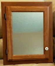 Surface or Recessed Mounted Wood Mirrored Bathroom Medicine Cabinet