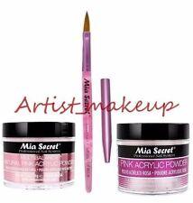 Mia Secret Acrylic Nail Powder Pink + Multibalance 2 oz + Kolinsky Brush# 8 OR
