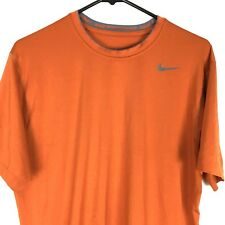 Nike Pro Combat Mens T Shirt Large L Orange Dri Fit Short Sleeves Athletic Tee