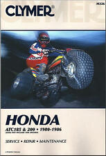 Honda Atc 185 200 Trike Atv Clymer Repair Manual M326
