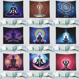 Boho Mandala Yoga Zen Tapestry Spa Meditation Seven Chakra Lotus Wall Hanging