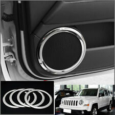 FOR jeep patriot compass 2011-2016 ABS Chrome Interior door speaker ring trim