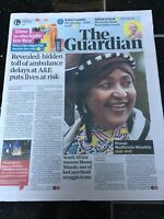 Winnie Mandela Obituary Front Page South Africa Newspapers Guardian 03/04/2018