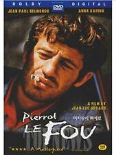 Pierrot Le Fou, Pierrot Goes Wild (1965) DVD (Sealed) ~ Jean-Paul Belmondo