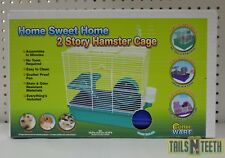 CritterWare Home Sweet Home 2-Story Hamster Cage -Perfect for Hamsters & Gerbils