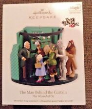 WIZARD OF OZ MAN BEHIND THE CURTAIN 2012 HALLMARK ORNAMENT MAGIC SOUND LIGHT
