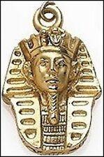 King Tut Pendant Small King Tut Pendant 24 K Gold-plate King Tut Charm Necklace