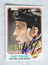 Vancouver Canucks Curt Fraser Signed 81/82 O-Pee-Chee Card Auto