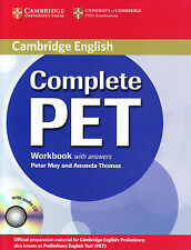 Cambridge COMPLETE PET Workbook with Answers & Audio CD @NEW@ OFFICIAL MATERIAL