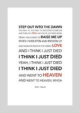 Avicii - Heaven - Colour Print Poster Art