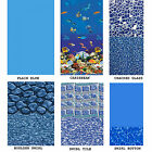 24' FT Round 20 Gauge Above Ground Overlap Swimming Pool Liner w/ Coping Strips