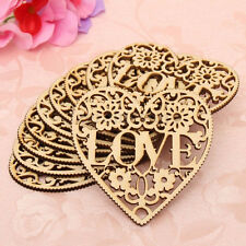 Wooden Laser Cut Love Hollow Heart Shape Craft DIY Scrapbooking Embellishments