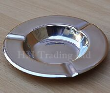13cm Round Stainless Steel Table Cigarette Smoking Ashtray Ash Tray Bin Cafe