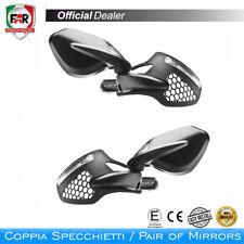 Paire Miroirs Rétroviseurs Moto FAR 7601 Et 7602 Homologués Noir De Contrepoids