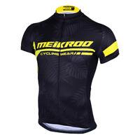 Men's Cycling Jersey Short Sleeve T-Shirt Sportswear Black Breathable M
