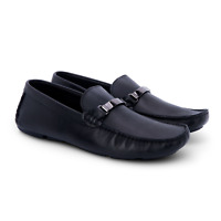 Men's Versace Shoes Size UK 9 US 10 Black Leather Loafers Brand New RRP 395