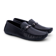 Men's Versace Shoes Size UK 7 Black Leather Loafers Brand New RRP 395