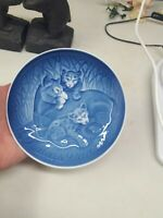Bing and Grondahl - B&G - Mothers Day Plate (Mors Dag) 1982 Lioness  and Cubs