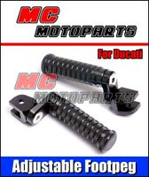 CNC Billet Black Adjustable Foot peg for Ducati Monster 695 696 1100 796 2011 S